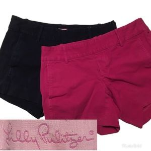Lilly Pulitzer Shorts Bundle of 2 (Pink and Navy)